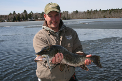 Maine pike fishing guide meadowbrook guide service for Maine bass fishing